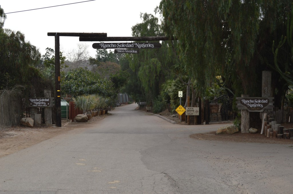 Rancho Soledad Nusery Entrance